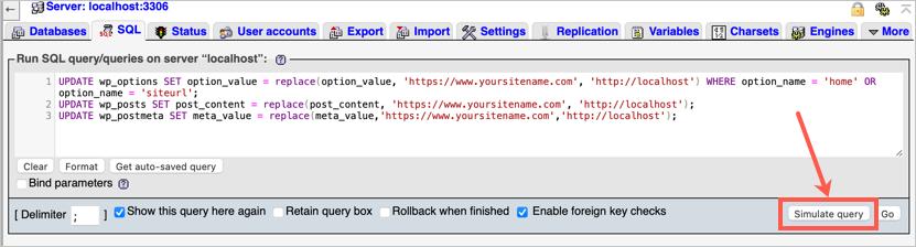 Имитация запросов в MAMP SQL