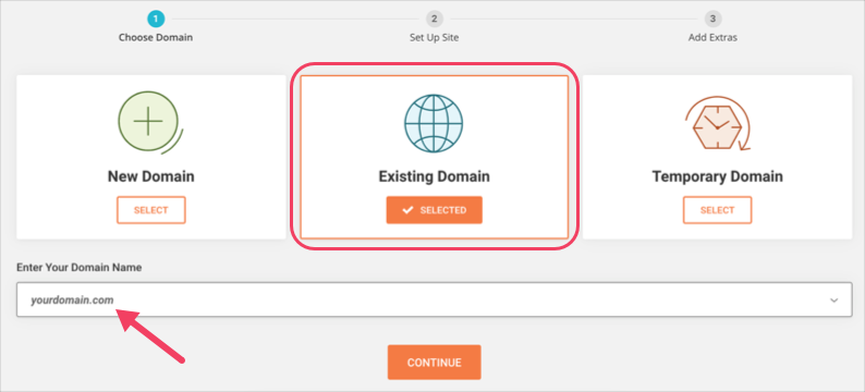 Type Your Domain Name
