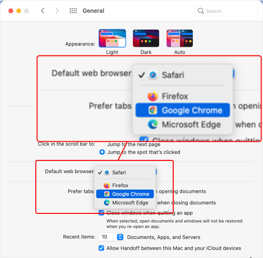 Change Default Browser in Mac