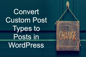 Convert Custom Post Types to Posts in WordPress