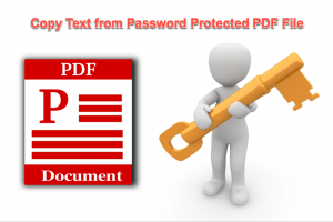 Copy Text from Password Protected PDF File