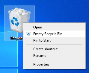 Empty Recycle Bin