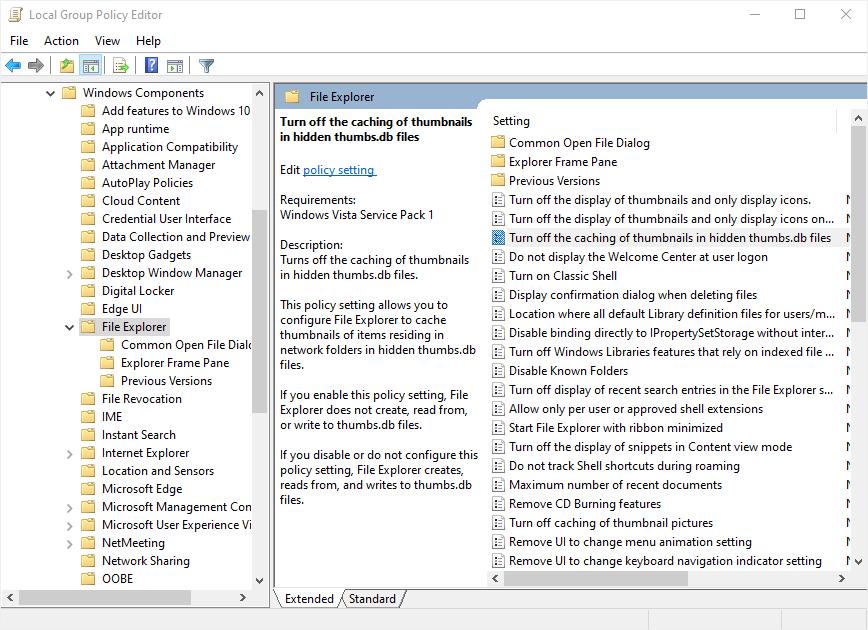 File Explorer Policies