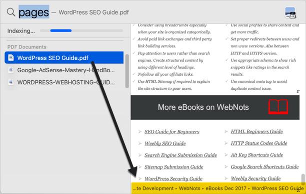 File Path in Spotlight Search