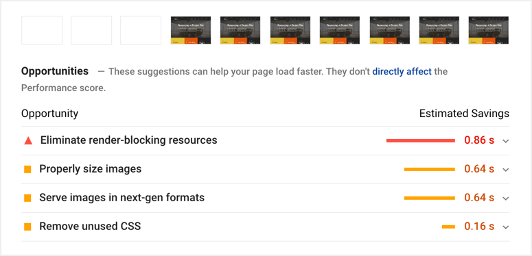 Google PageSpeed Insights Suggestions