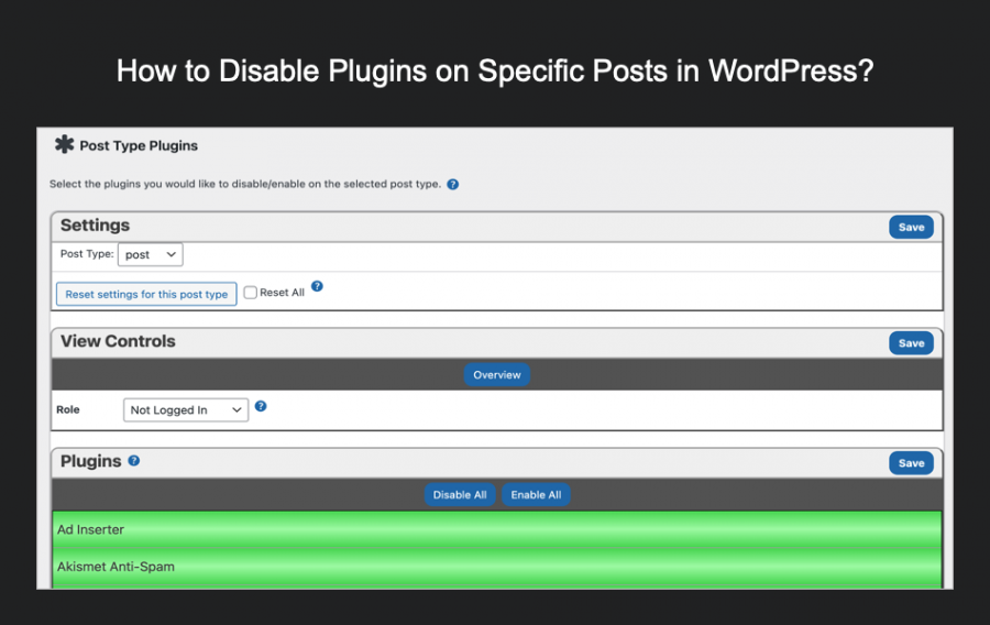How to Disable Plugins on Specific Posts in WordPress?