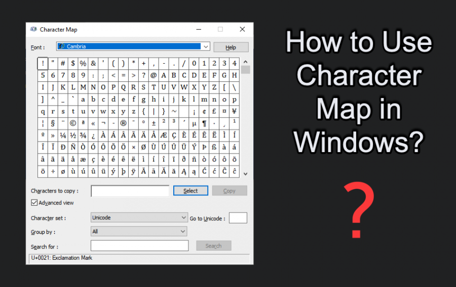 How to Use Character Map in Windows?