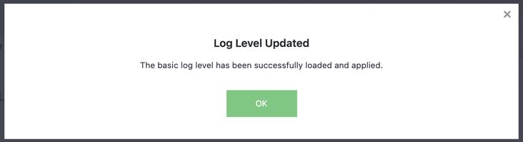 Log Level Changed