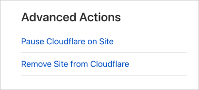 Remove Site From Cloudflare