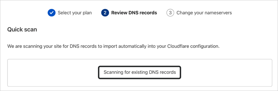 Scanning DNS Records