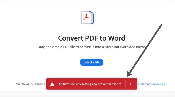 Security Error in Adobe Converter