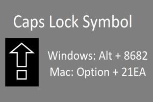 Shortcuts for Caps Lock Symbol