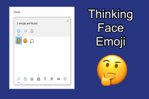 Shortcuts for Thinking Face Emoji