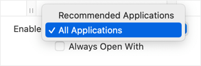 Show All Applications