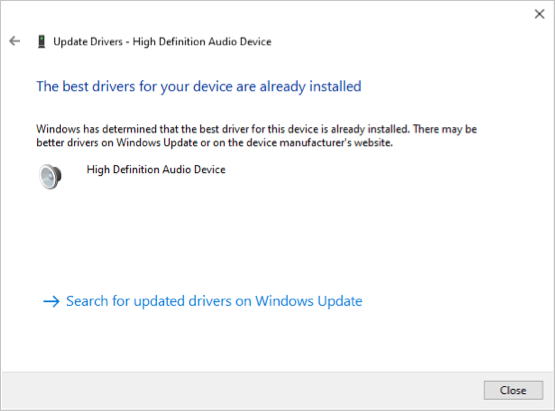 Updated Driver Installed