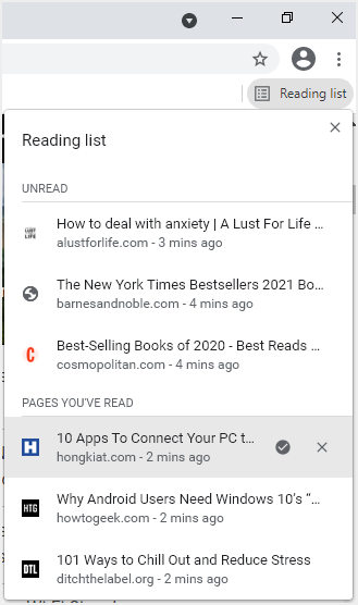 View Reading List