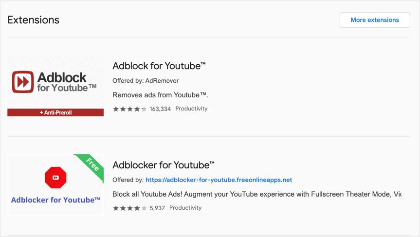 Ad Blocker Extensions