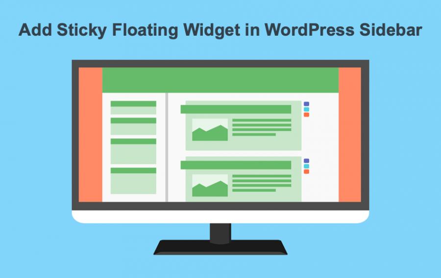 Add Sticky Floating Widget in WordPress Sidebar