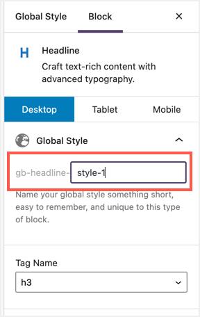 Create Global Style