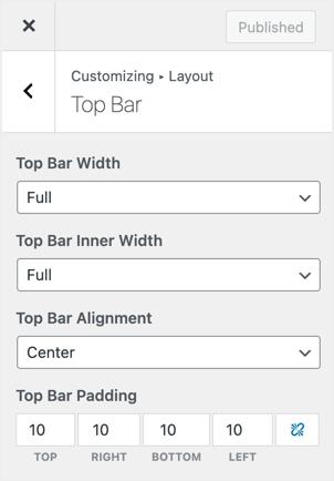 Customizing Top Bar in GeneratePress