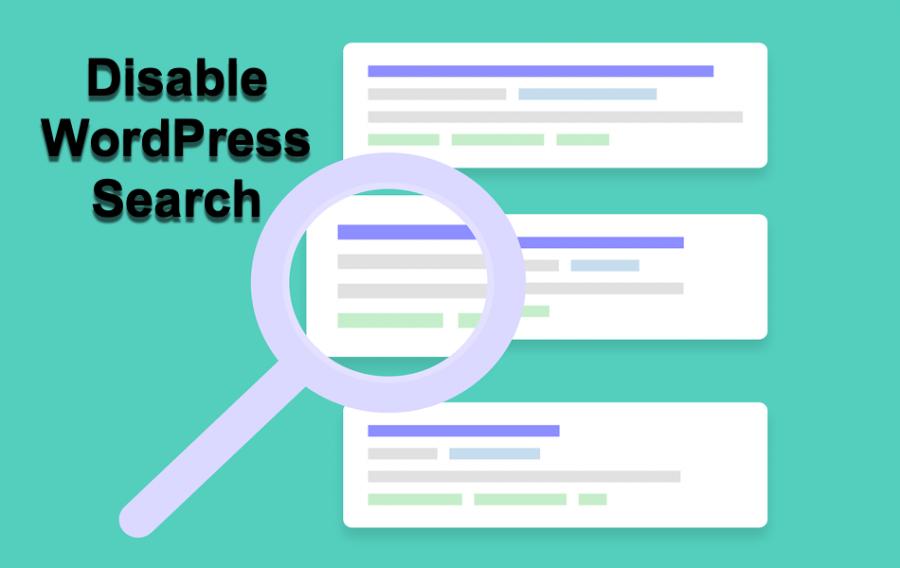 Disable WordPress Search