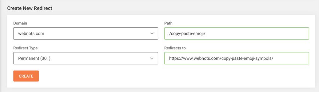Example Redirect