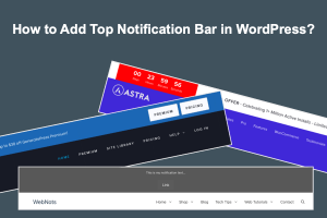 How to Add Top Notification Bar in WordPress?