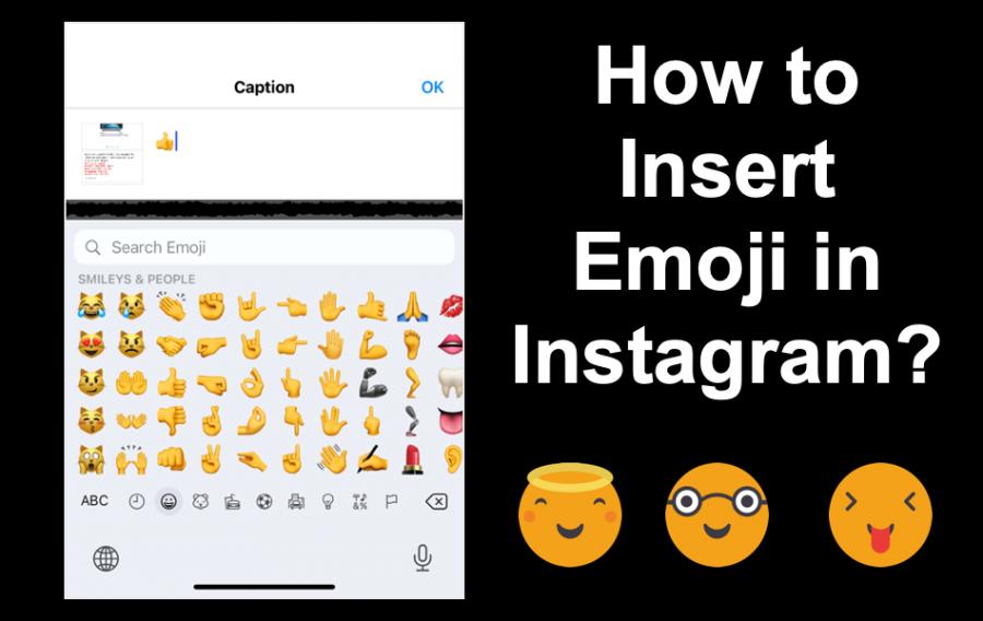 How to Insert Emoji in Instagram?