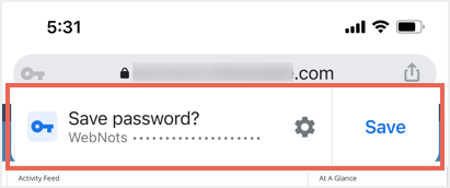 Save Password Prompt in Mobile