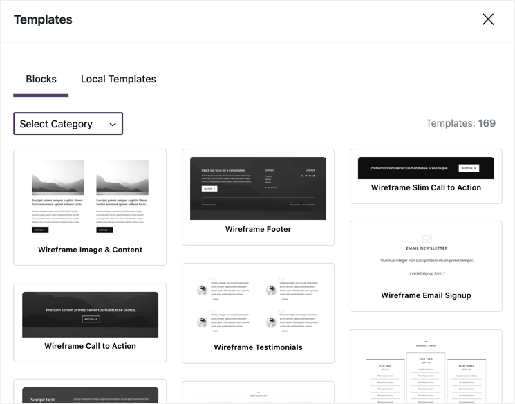 Template Block Library