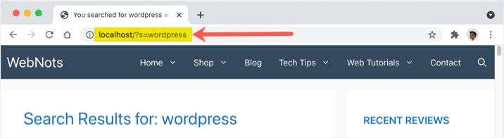 WordPress Search Results