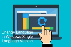 Change Language in Windows Single Language Version