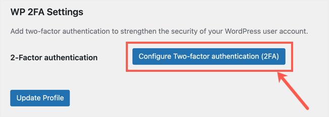 Configure 2FA from User Profile