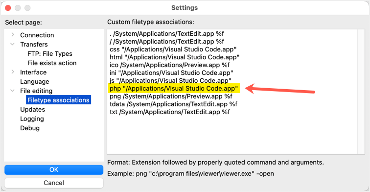 Custom Filetype Association Created