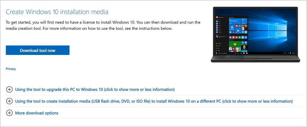 Download Windows Media Creation Tool