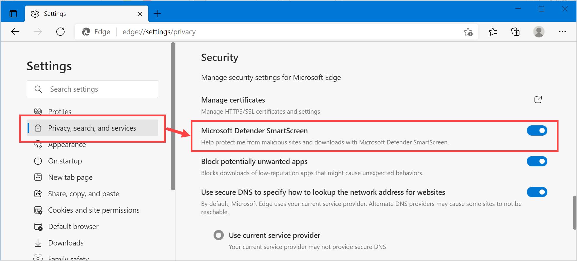 Enable or Disable Microsoft Defender SmartScreen