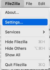 FileZilla Settings