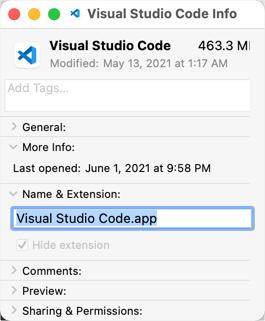 Get App Name in Mac