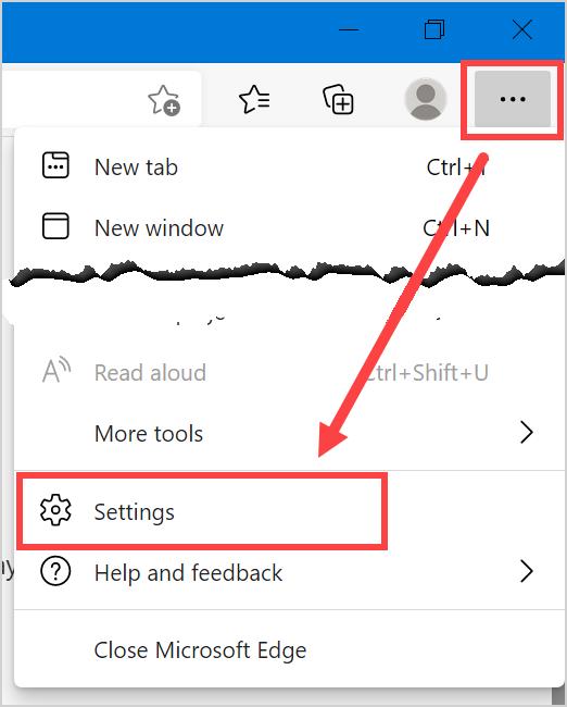 Microsoft Edge Settings Page