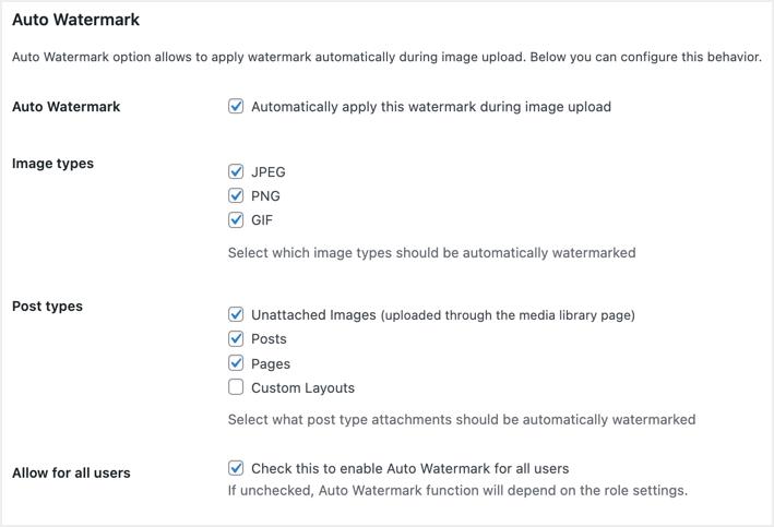 Add Auto Watermark