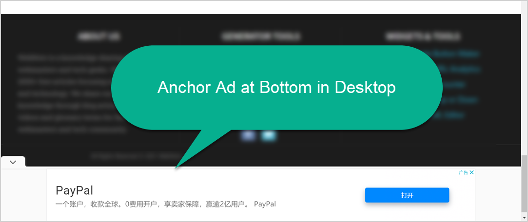 Anchor Ad at Bottom in Desktop
