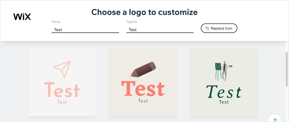 Choose Logo for Customizing
