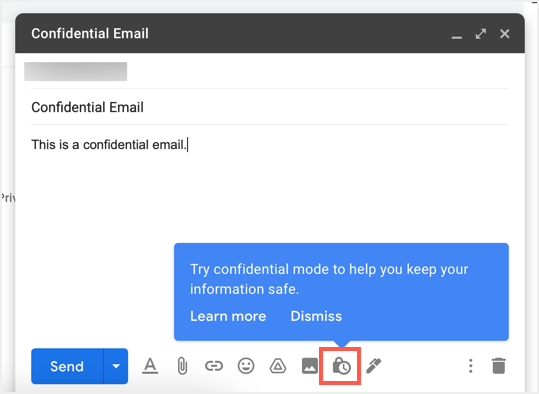 Confidential Email in Gmail