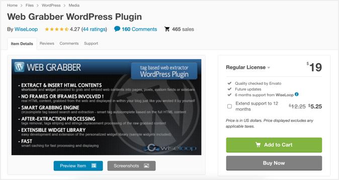 Content Scrapper Plugin