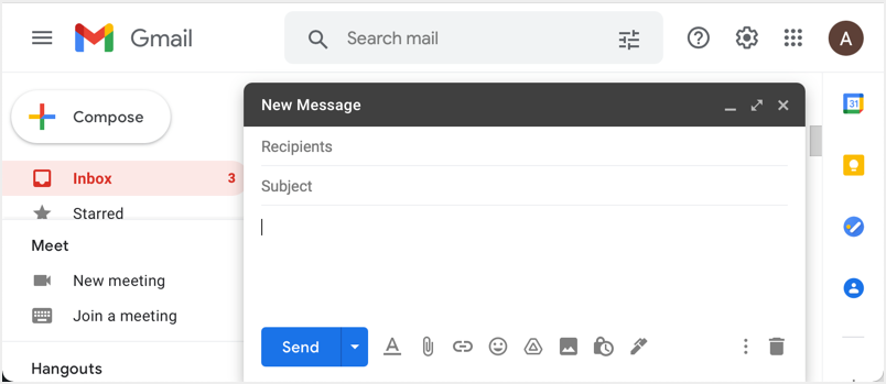 Create New Email in Gmail