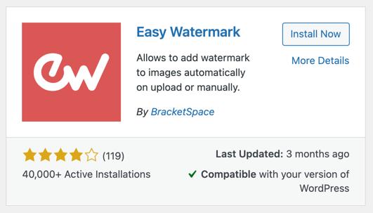Easy Watermark Plugin