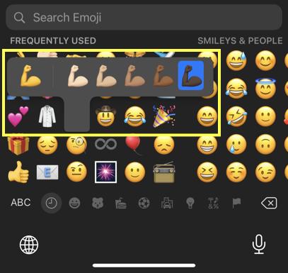 Emoji with Skin Tone