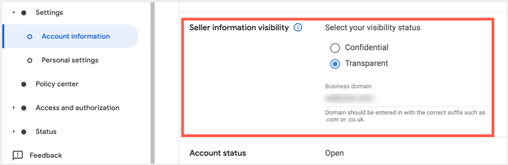 Enable Seller Information Visibility