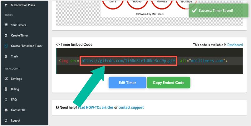 Get GIF Image Embed Code