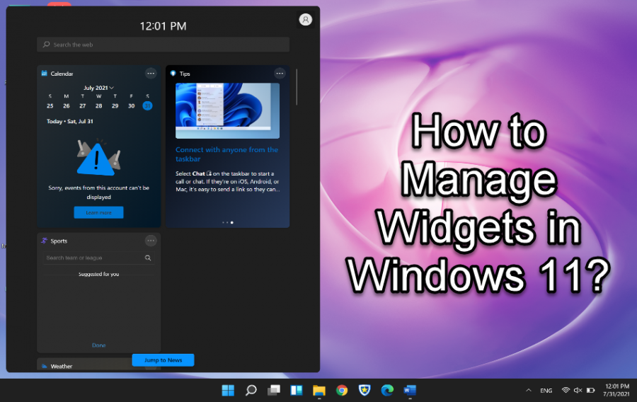 How to Manage Widgets in Windows 11?